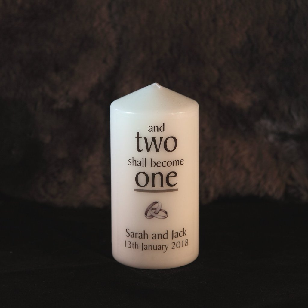 Wedding Unity Candle - Two Become One