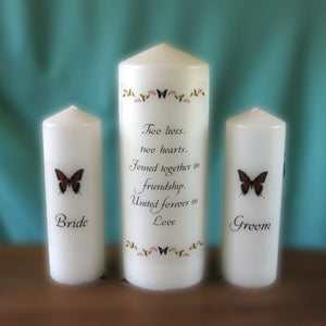 Wedding Unity Candle Set - Butterflies