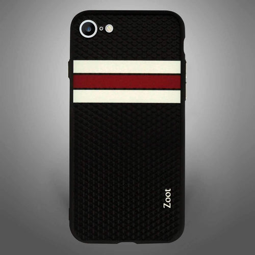 Sports Black with white red Stripes