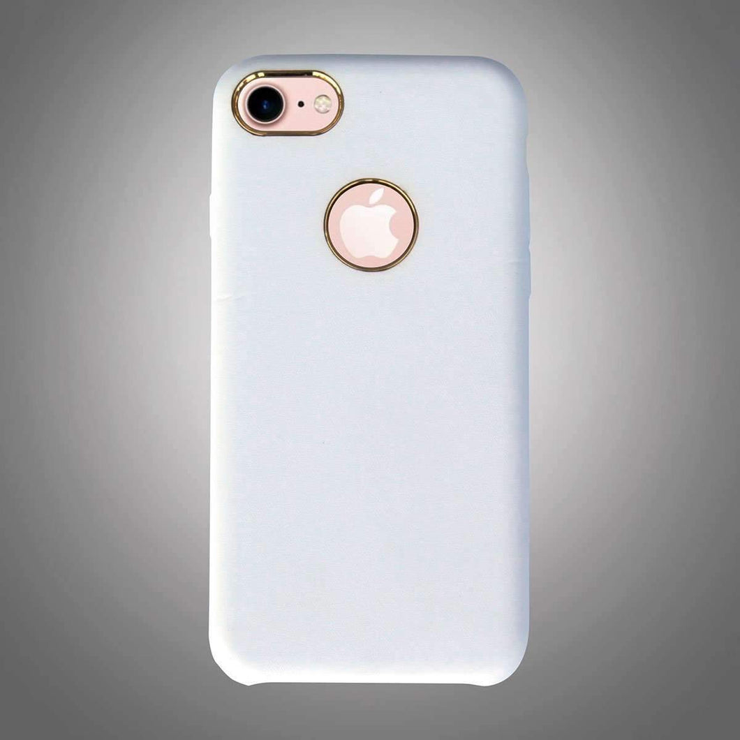 Plain Back Cover with Metallic Ring White