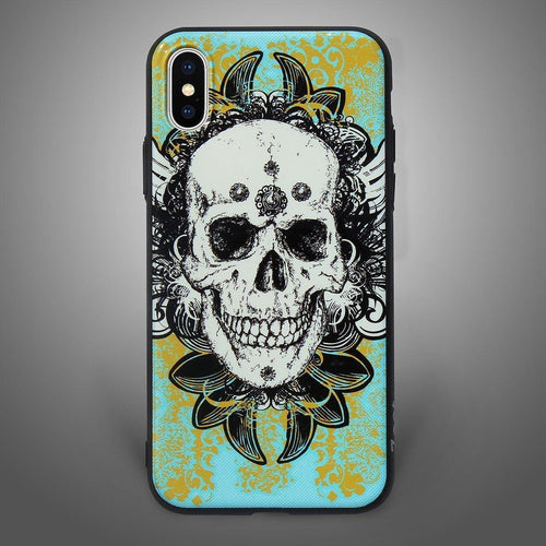 Abstract Skull Back Cover Cyan and Yellow - Zoot Online- Mobile Case - Mobile Covers - online