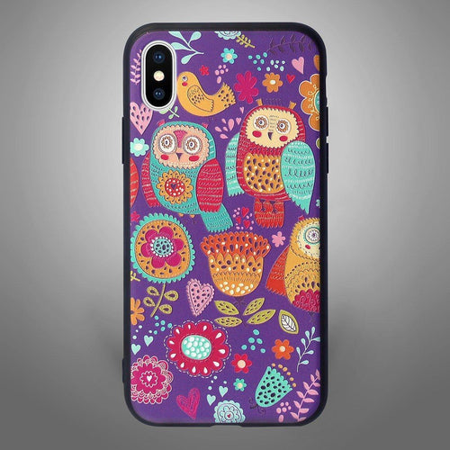 Animals Back Cover Purple Owls - Zoot Online- Mobile Case - Mobile Covers - online