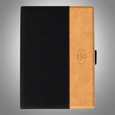 IPAD Flip Cover Leatherette Black and Beige