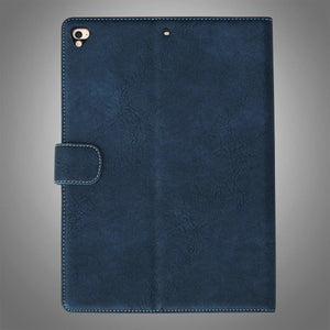 IPAD Flip Cover Leatherette Blue and Beige