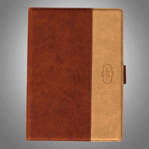 IPAD Flip Cover Leatherette Brown and Beige