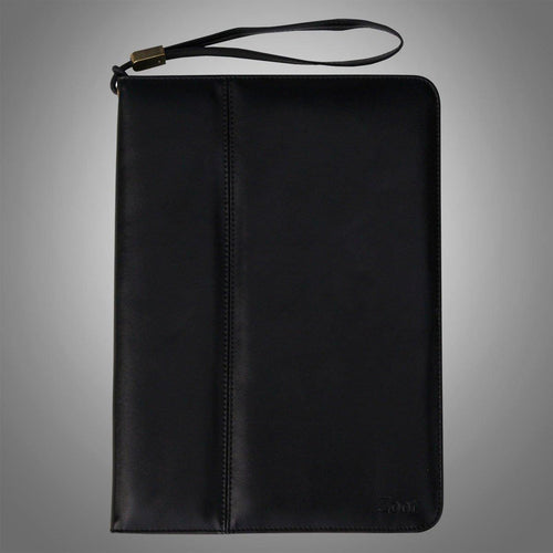 IPAD Leatherette Soft Flip Cover Black