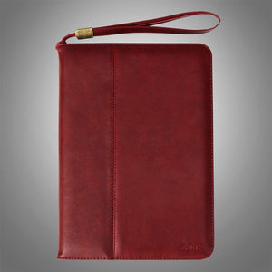 IPAD Leatherette Soft Flip Cover Dark Brown