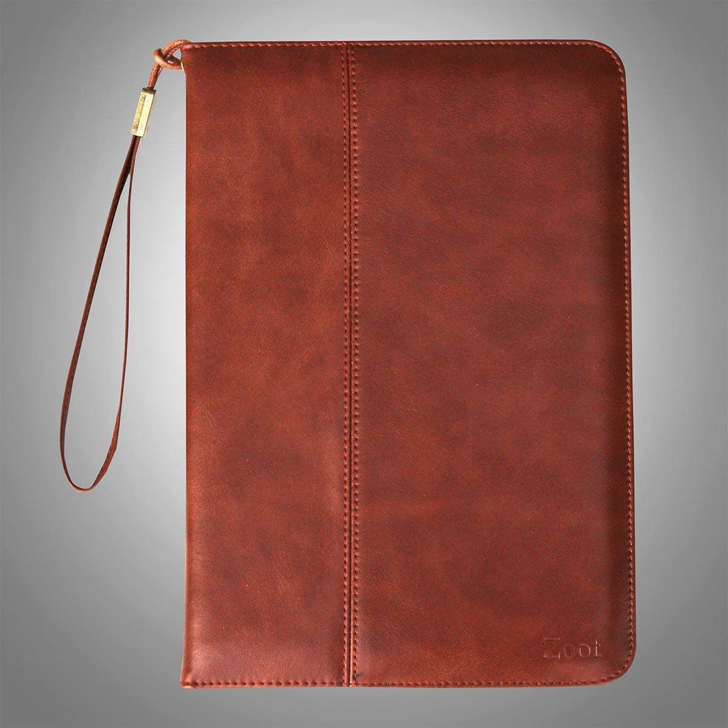 IPAD Leatherette Soft Flip Cover Dark Red