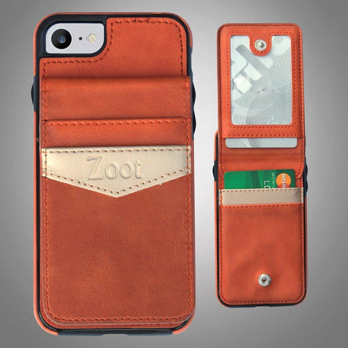 Leatherette Back Cover with Card Holder Orange