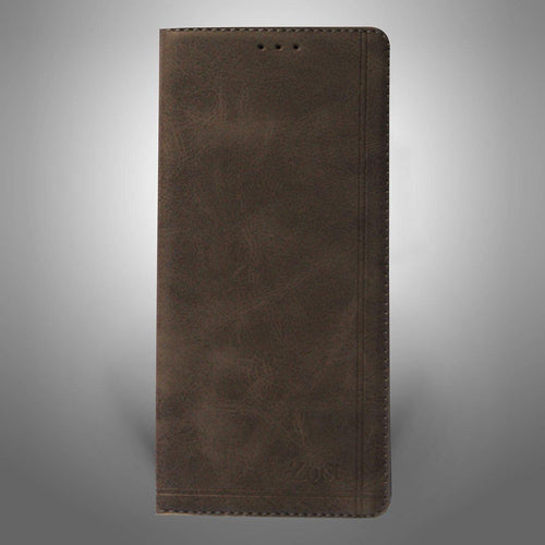 Leatherette Flip Cover Dark Brown