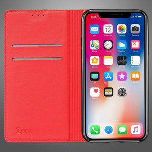 Leatherette Flip Cover Dark Red