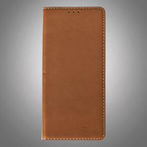 Leatherette Flip Cover Light Brown