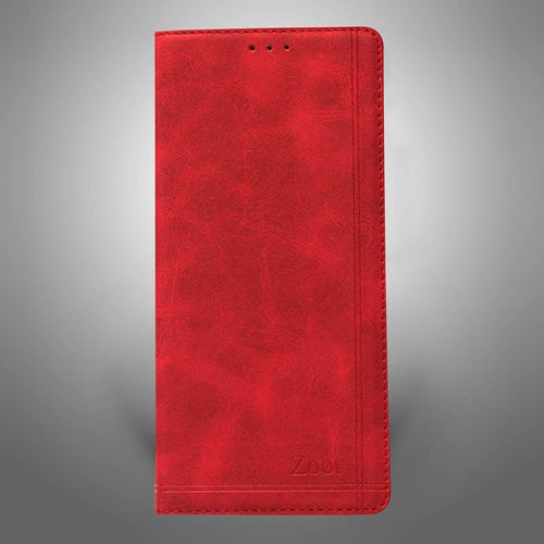 Leatherette Flip Cover Red