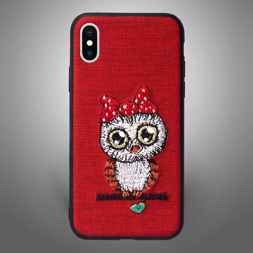 Ribbon Owl Fab Red