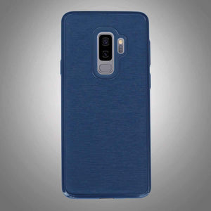 Shinny Rugged Textured Back Cover Blue