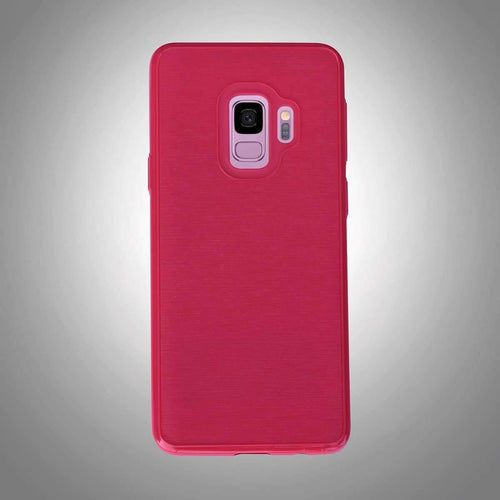 Shinny Rugged Textured Back Cover Red