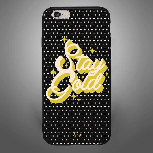 Stay Gold Textured Black - Zoot Online- Mobile Case - Mobile Covers - online
