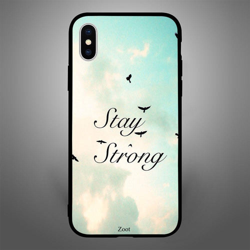 Stay Strong With Sky Background - Zoot Online- Mobile Case - Mobile Covers - online