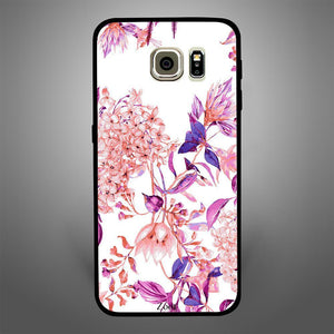 Pink purple flower pattern