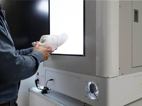Compact product automated photo solutions for footwear