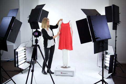 fashion and textile studio product photography