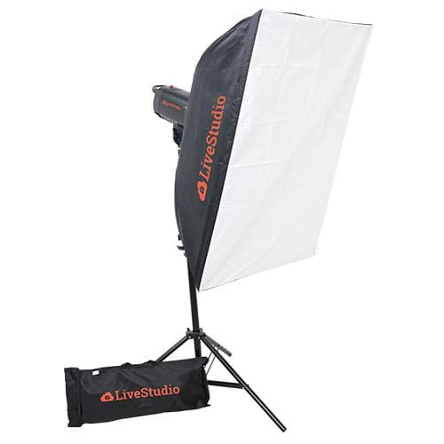 Photo studio light kit with software controlled LED dimming