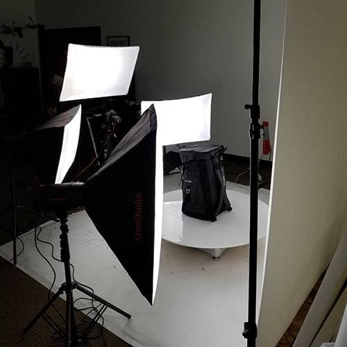 Studio photo lighting kit for product photography