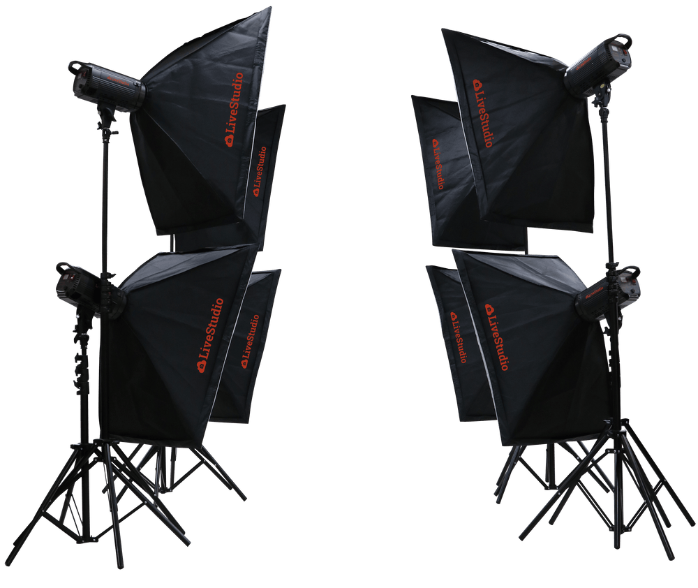 LiveStudio by PackshotCreator product photography kit and studio light set
