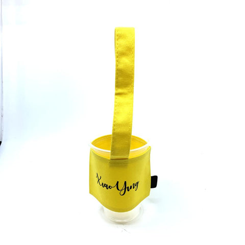 Personalised canvas cup holder - Yellow