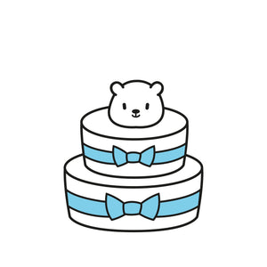 Diaper Cake (2 Tier) B1 : Baby Boy