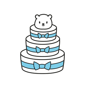 Diaper Cake (3 Tier ) D1 : Baby Boy