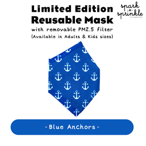 Alcan Care - Reusable Mask (Blue Anchors) LIMITED EDITION