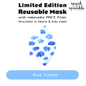 Reusable Mask (Blue Clouds) LIMITED EDITION