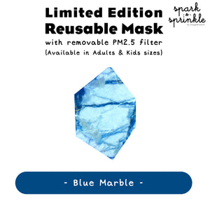 Reusable Mask (Blue Marble) LIMITED EDITION
