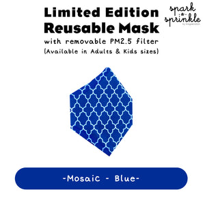 Reusable Mask (Mosaic - Blue) LIMITED EDITION