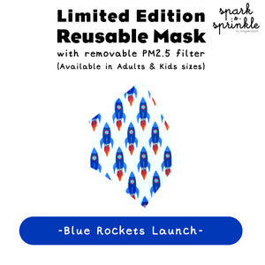 Alcan Care - Reusable Mask (Blue Rockets Launch) LIMITED EDITION