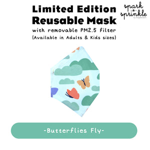 Reusable Mask (Butterflies Fly) LIMITED EDITION