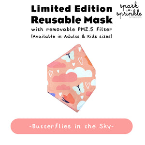 Reusable Mask (Butterflies in the Sky) LIMITED EDITION
