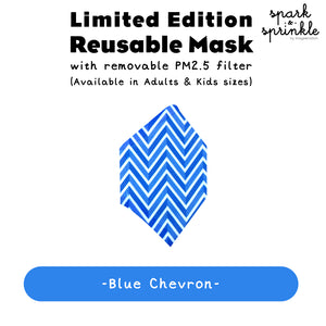 Alcan Care - Reusable Mask (Chevron - Blue) LIMITED EDITION