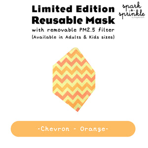 Alcan Care - Reusable Mask (Chevron - Orange) LIMITED EDITION