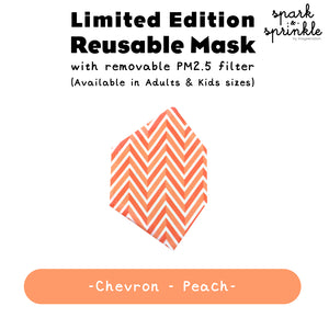 Alcan Care - Reusable Mask (Chevron - Peach) LIMITED EDITION
