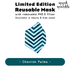 Alcan Care - Reusable Mask (Chevron Palms) LIMITED EDITION