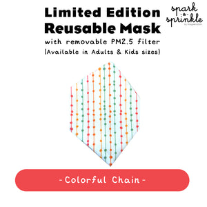 Reusable Mask (Colourful Chain) LIMITED EDITION