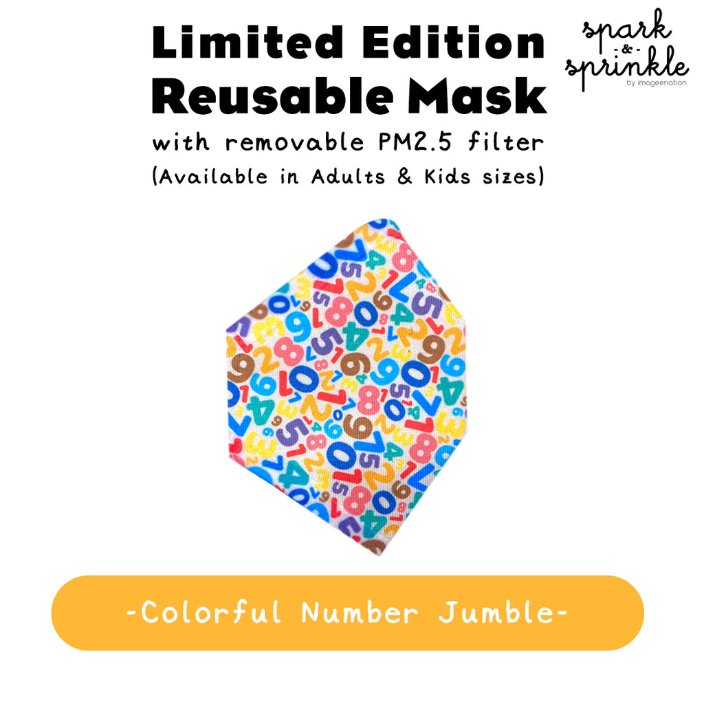 Reusable Mask (Colourful Number Jumble) LIMITED EDITION