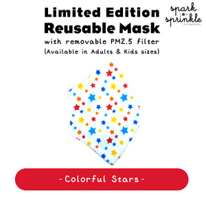 Reusable Mask (Colourful Stars) LIMITED EDITION