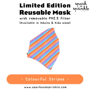 Reusable Mask (Colourful Stripes) LIMITED EDITION