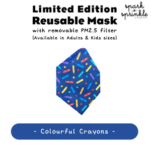Alcan Care - Reusable Mask (Colouring Crayons) LIMITED EDITION