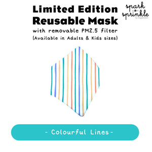Reusable Mask (Colourful Lines) LIMITED EDITION