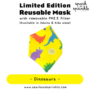 Alcan Care - Reusable Mask (Dinosaurs) LIMITED EDITION