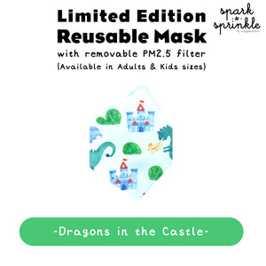 Reusable Mask (Dragons in the Castle) LIMITED EDITION